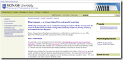 Monash website
